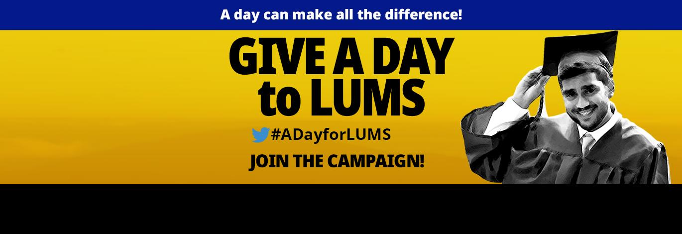 Give a Day to LUMS Donate